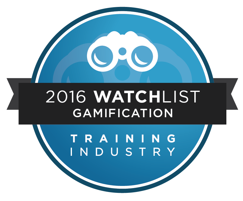 Training Industry 2016 Watchlist award for Gamification