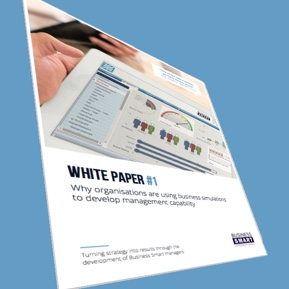 Perspective view of white paper cover page